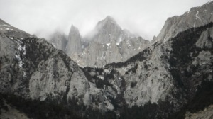 Mt Whitney, in clouds