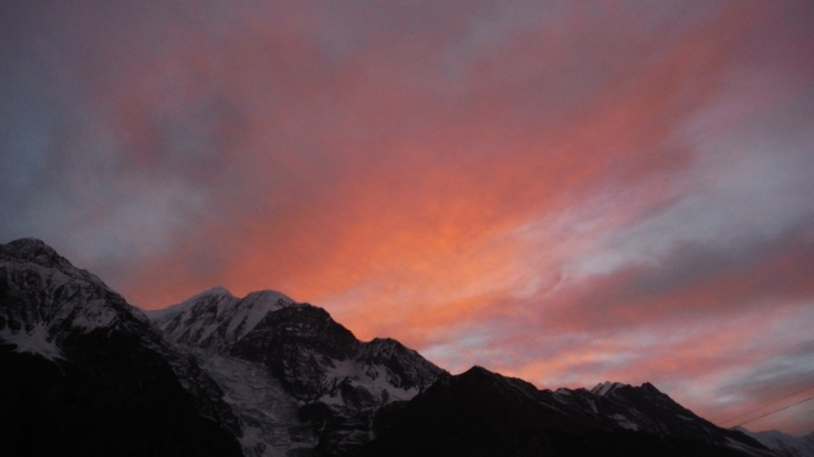 Sunset from Manang