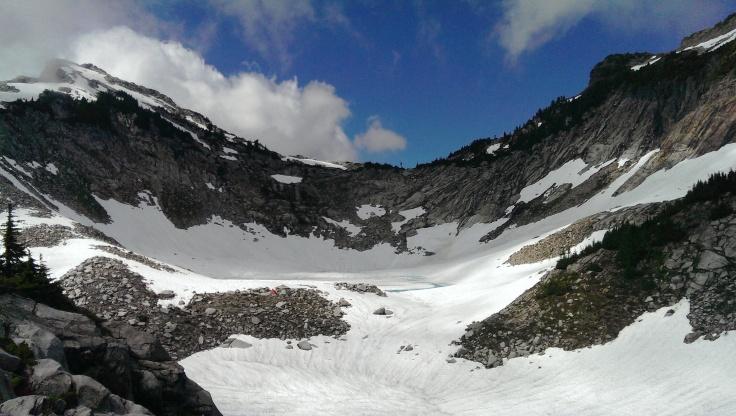 Vesper Lake, under snow!